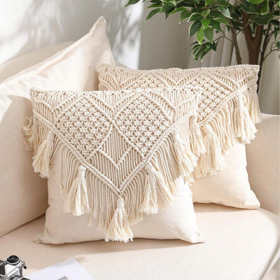 Bohemian Macrame Cushion Covers Tropical BLVD Fashion TropicalBlvd