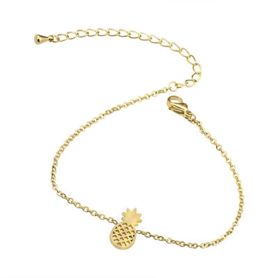Stainless Steel Dainty Pineapple Bracelet Tropical BLVD Fashion TropicalBlvd