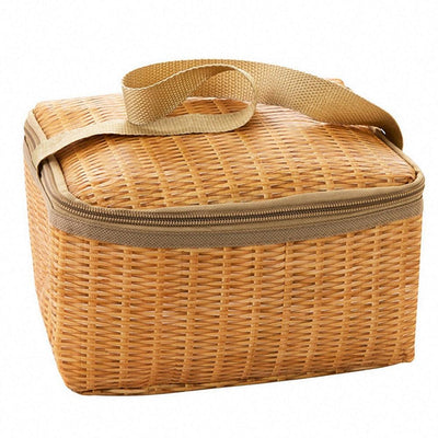 Wicker Rattan Outdoor Picnic Bag Tropical BLVD Fashion TropicalBlvd