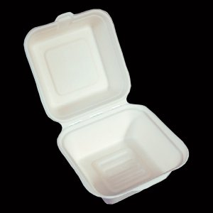 "CLAMSHELL CONTAINER - 6"" X 6"" X 3"""