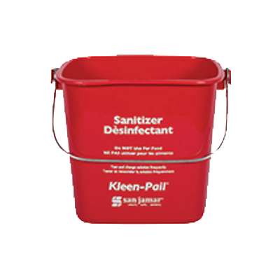 BUCKET | SANITIZER (RED)