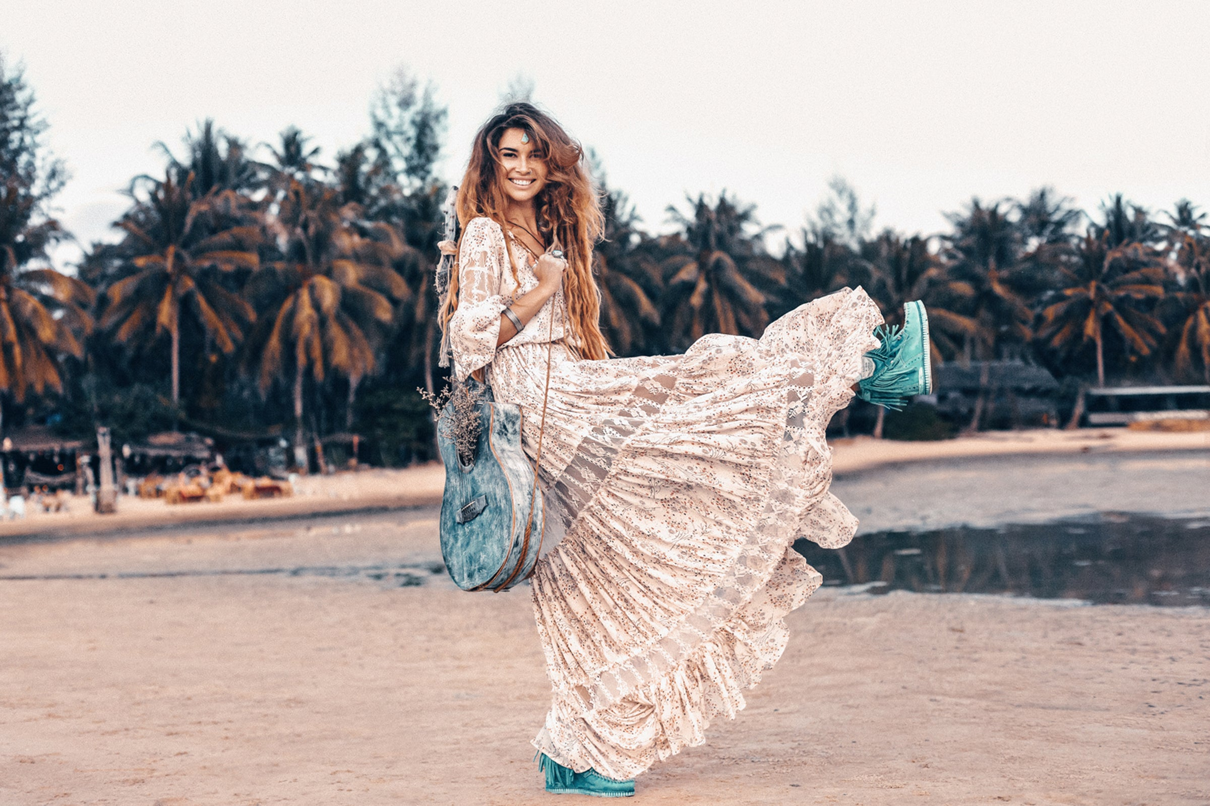 Island Tribe - Manda Bohemian Maxi Dress
