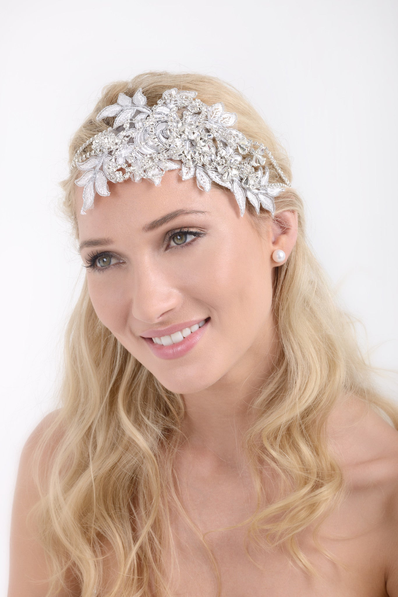 "Jeweled Lace – ""Great Gatsby Inspired"" Headpiece"