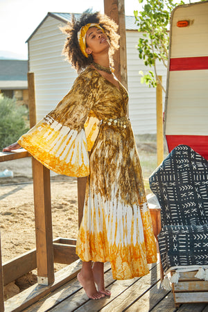 Berkeley Bohemian Wrap  Dress - Island Tribe