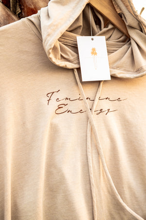 Feminine Energy Cotton Hoodie - Island Tribe
