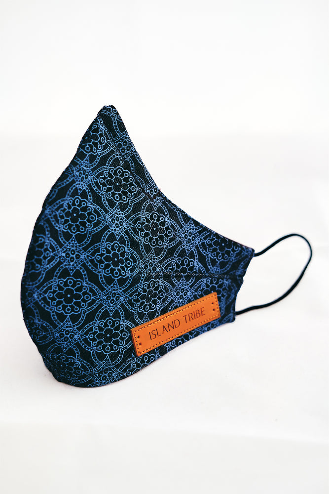 Blue Denim Mask - Island Tribe