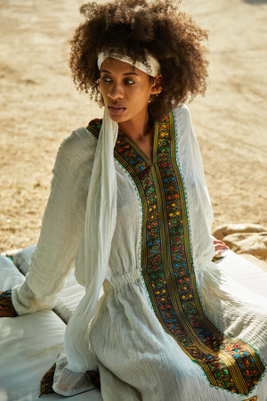 Habesha Maxi Dress - Island Tribe