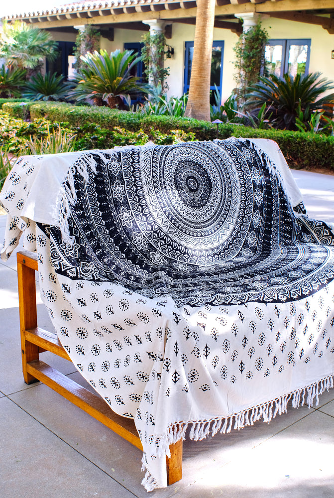 Mandala Organic Cotton Throw