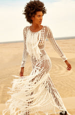Lovina Fringe Macrame Dress