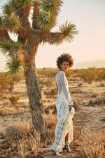 Gili Fringe Macrame Dress