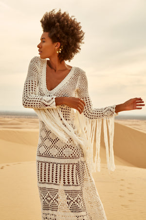 Gili Fringe Macrame Dress - Island Tribe
