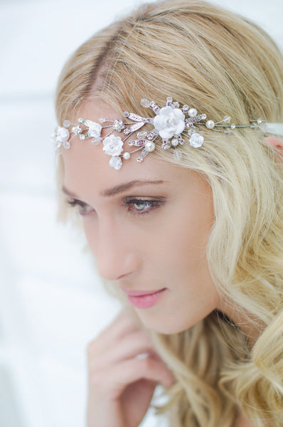 Gardenia Vine Headpiece