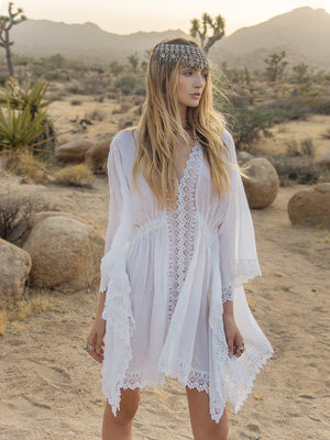 Temara Cotton Kaftan - Island Tribe