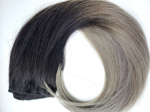 Black To Grey Halo Hair Extension