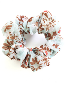 Light Blue Chiffon Hair Scrunchie