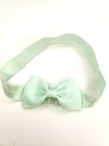 Pale Green Bow Headband