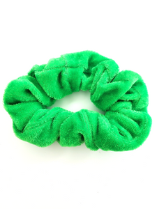 Green Velvet Hair Scrunchie