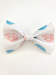 White Easter Egg Bow Hair Clip
