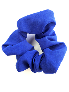 Royal Blue Chiffon Hair Scrunchie