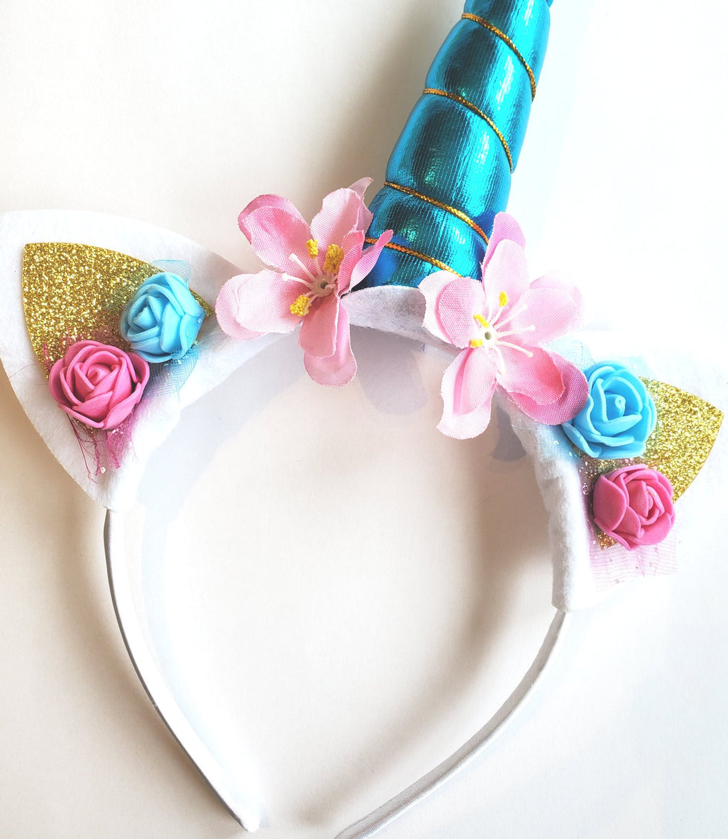 Unicorn Headband Blue
