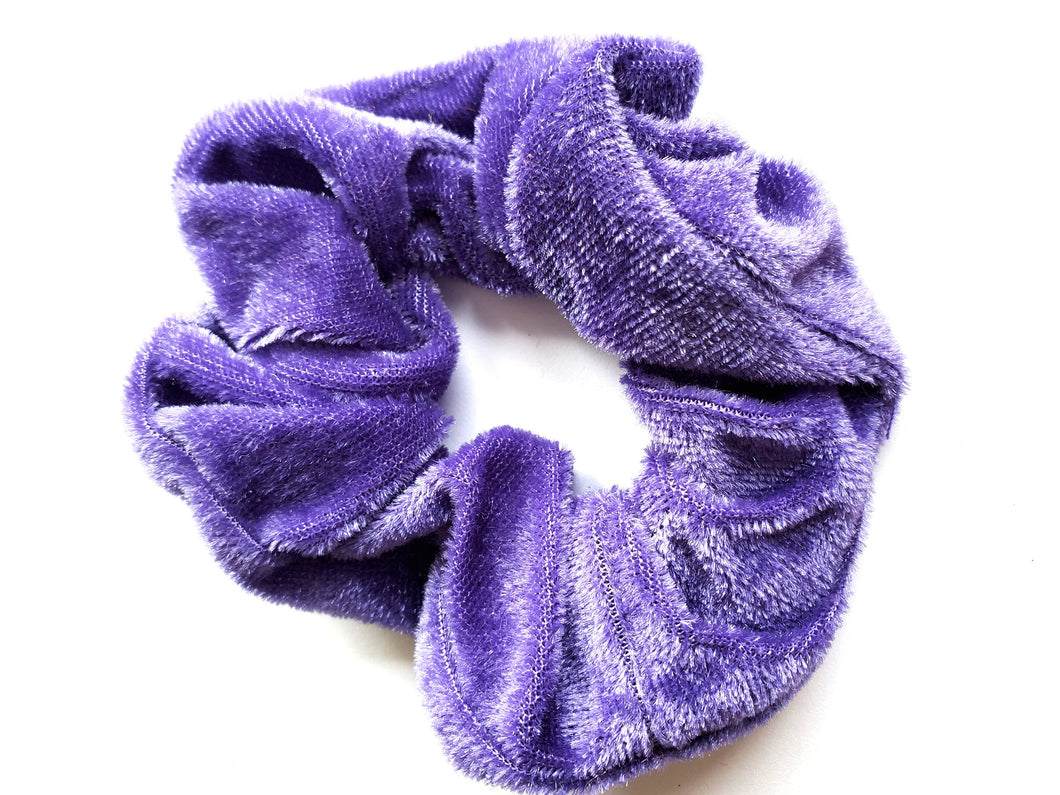 Purple Velvet Hair Scrunchie