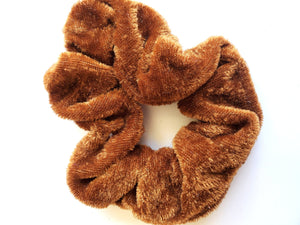 Brown Velvet Hair Scrunchie