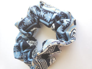 Blue Design Chiffon Hair Scrunchie