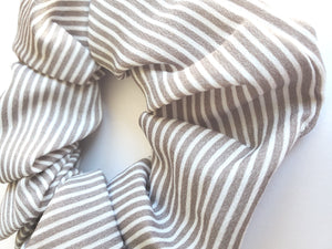 Light Brown Stripe Chiffon Hair Scrunchie