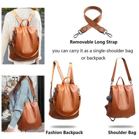 quality faux leather backpack adjusting
