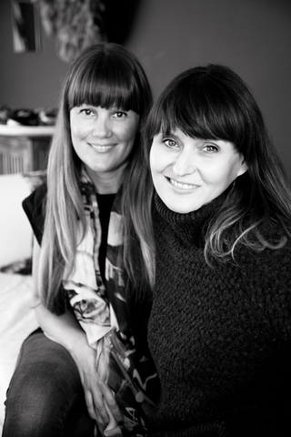 Macayla Chapman and Natalie Knoll - Bird and Knoll in their New Zealand studio