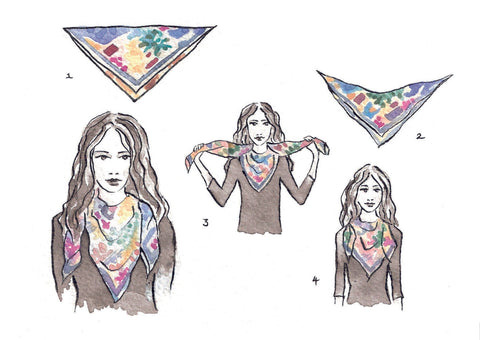 How to tie your silk scarf - THE BOY SCOUT TRIANGLE