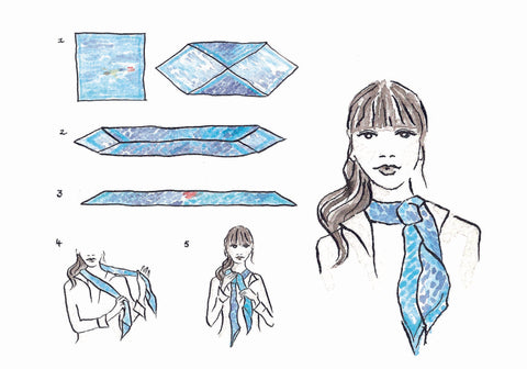 How to tie your silk scarf - THE PARISIAN KNOT