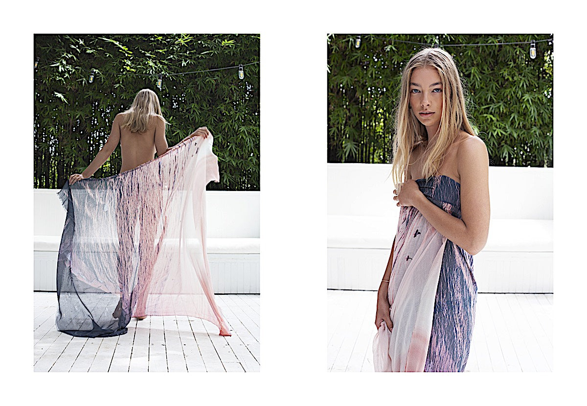 Bird and Knoll Luxury Scarves and Resort Wear Lookbook