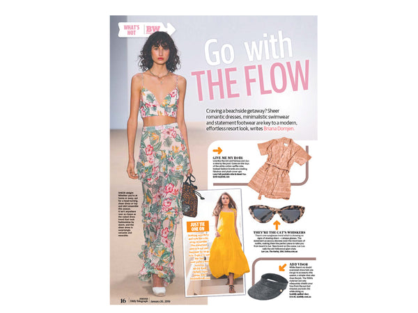 Ophelia Maxi in the Sunday Telegraph