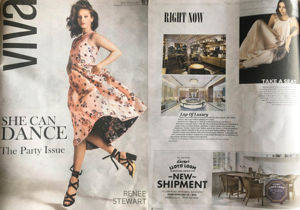 Bird and Knoll mayan maxi in the NZ Herald Viva magazine