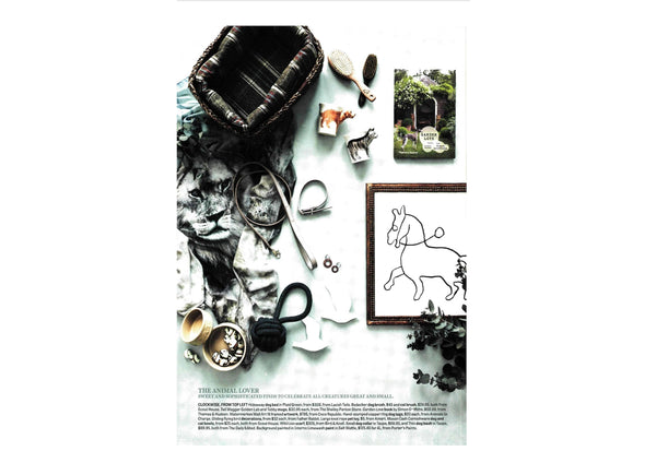 BIRD AND KNOLL WILD LION SCARF IN COUNTRY STYLE MAGAZINE
