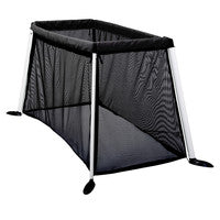 phil&teds traveller portable travel baby cot - 3/4 view black