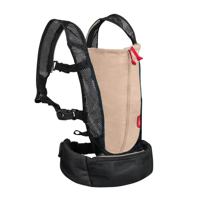 phil&teds lightweight baby carrier in sand 3/4 view_sand