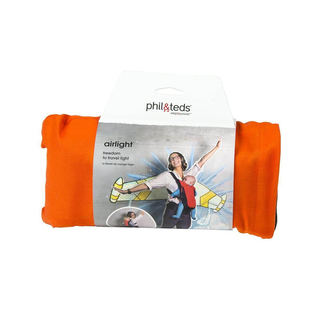phil&teds lightweight baby carrier in orange packaged_orange