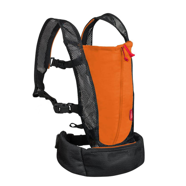 phil&teds lightweight baby carrier in orange 3/4 view_orange