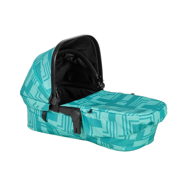 phil&teds mod carrycot in capri colour 3/4 view_capri