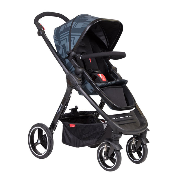 phil&teds mod stroller in noir colour 3/4 view_noir