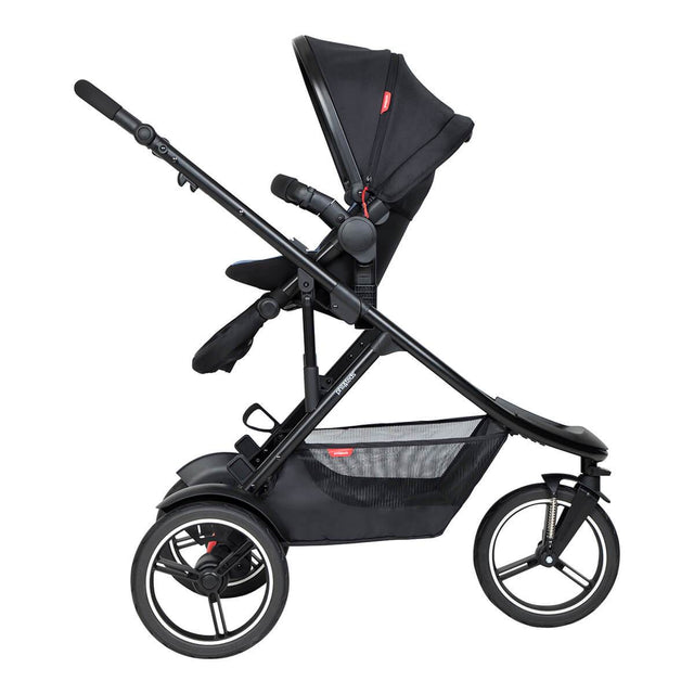 phil&teds dash inline buggy in parent facing mode with double kit