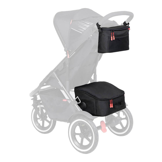 phil&teds igloo  set de stockage et caddy sur sport buggy 3/4 view_black