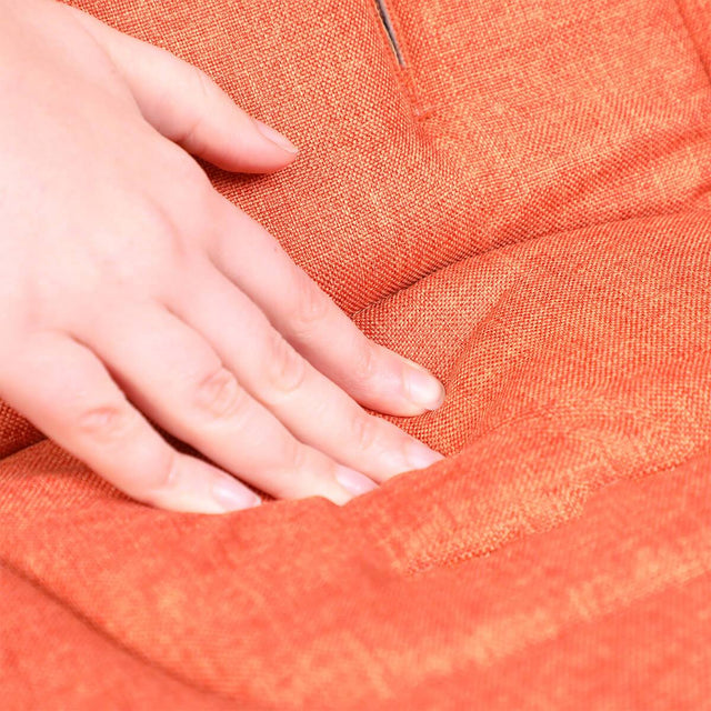 phil&teds cushy ride liner in rust orange is soft to touch close up_rust