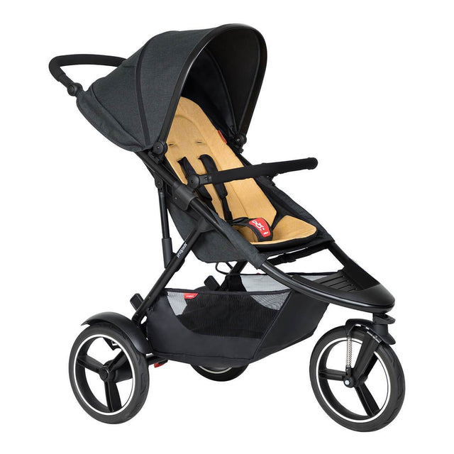 phil&teds dash inline buggy in butterscotch brown colour