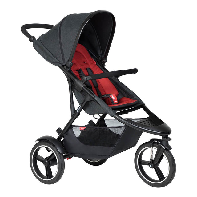 phil&teds dash  inline  buggy de couleur rouge piment