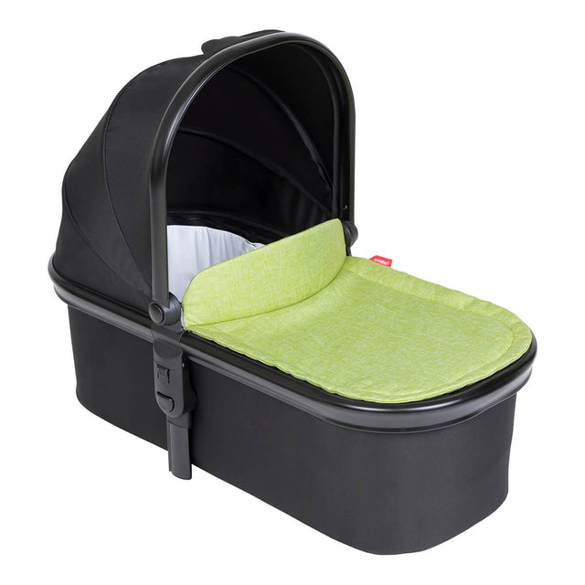 phil&teds snug carrycot with apple lid 3/4 view_apple