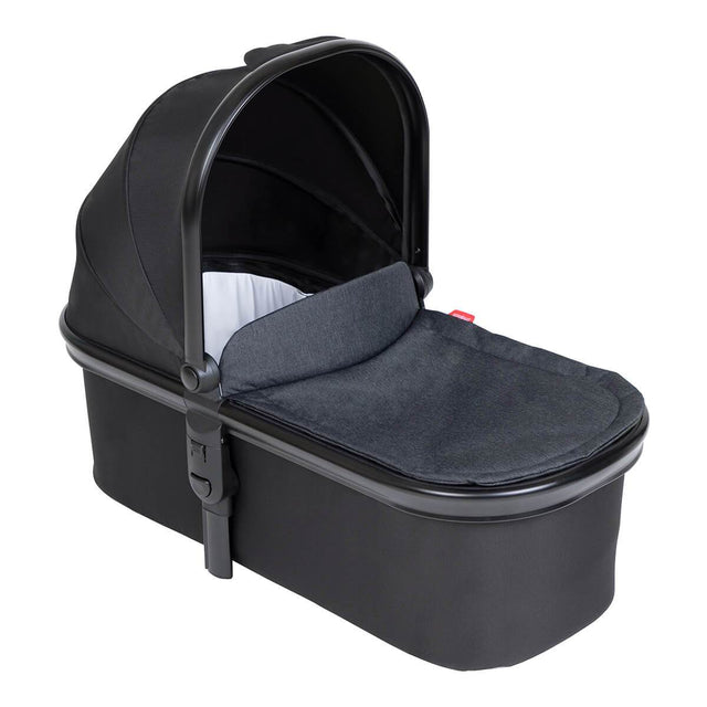 phil&teds snug carrycot with black lid 3/4 view_black