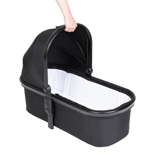 phil&teds snug carrycot with lid removed 3/4 view_charcoal